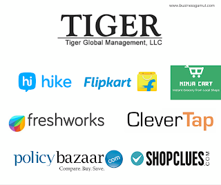 Tiger Global investments in Indian Startups